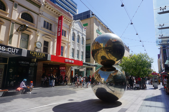 The Famous Adelaide Balls in Rundle Mall